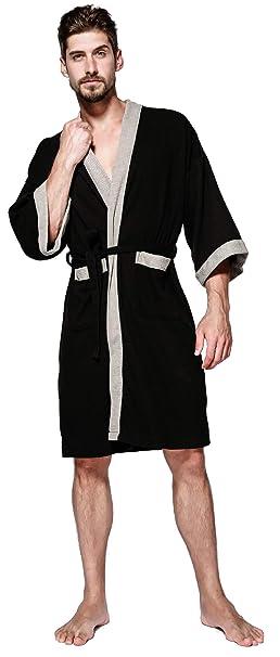 Unisex Albornoz Hombre o Mujer Primavera Verano Batas y Kimonos con Cinturón, Muy Suave Cómodo Fino Ligero y Agradable para Hombre o Mujer: Amazon.es: Ropa ...