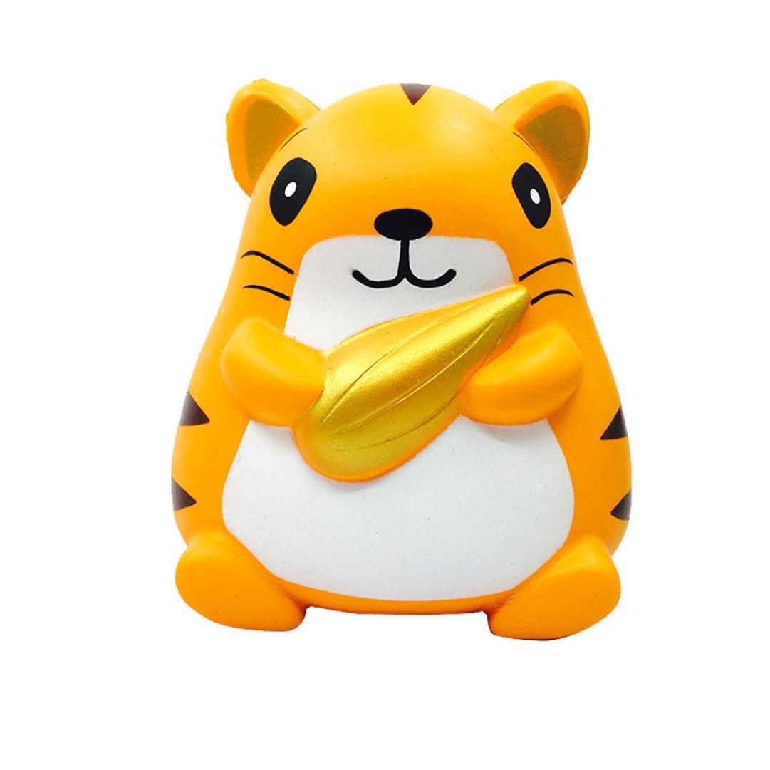 CSSD Squishy {Hamster/Panda Burger/Strawberry Mouse/Jumbo Strawberry Cake/Cartoon Big Eye Bear/Moon Unicorn/Cute Panda Cake} {Slow Rising} {Stress Reliever} Fun Squeezable Healing Gifts To (A)