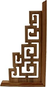 Mcttui Wood Carved 2pcs Chinese Style Home Wood Carving Decorations Wedding Accessories Furniture Appliques Wood Carving Corner Wooden Decor Frame Wall Door Woodcarving Decal (Color : A)