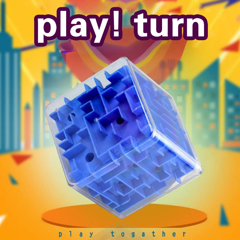Deanyi Marble Labyrinthe de la Petite enfance Jouet Transparent Tomb 3D Stereo Maze Pinball Adult Intelligence Cube Toy D/écompression Bleu Jouets D/éveil Jouets Educatifs