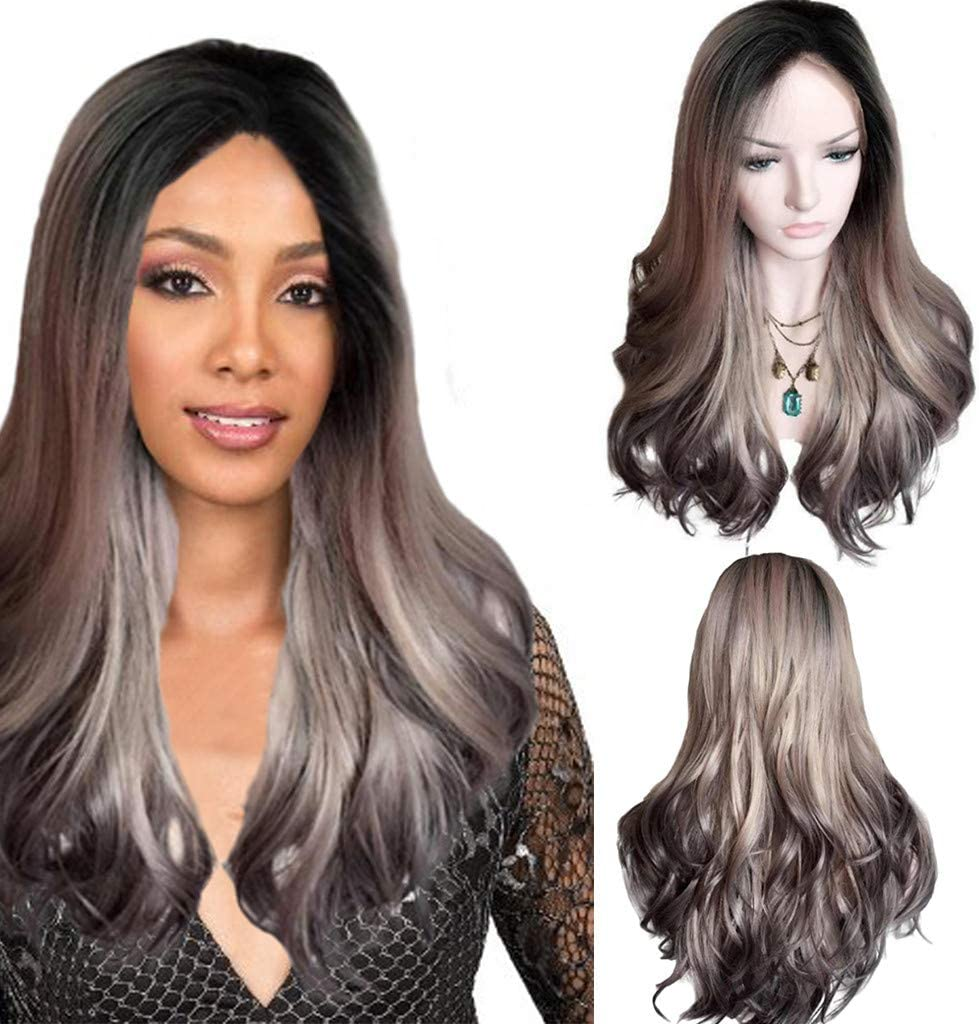 Angelof - Peluca natural para mujer, pelo largo rizado, estilo ...