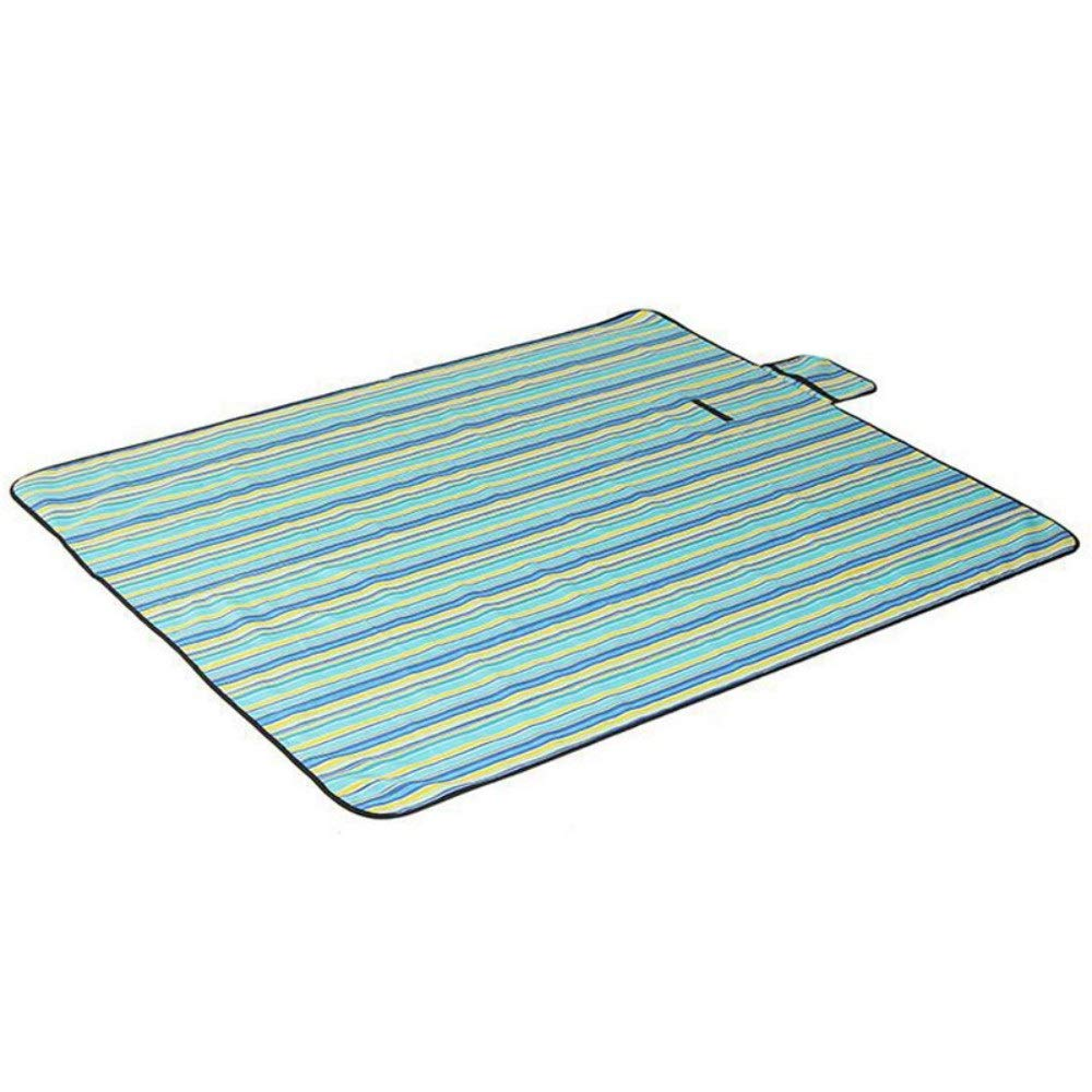 ROIY Outdoor Picnic Mat 1.51.8 M Oxford Cloth Mats Crawling Beach Mats Camping Multifunctional Floor Mats (Color : Blue Waves Beach) by ROIY