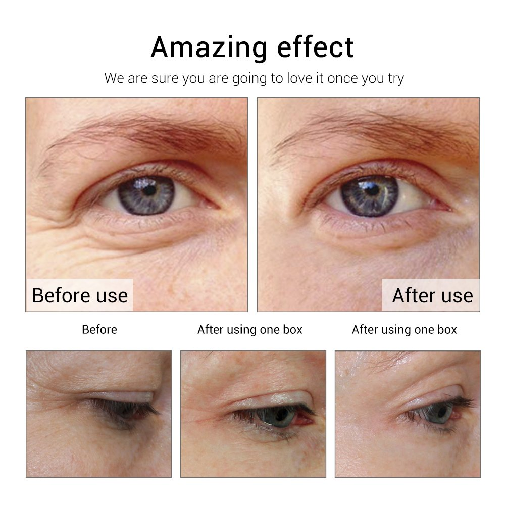 Anti-Aging Eye Serum Beauty and Skin Care Capsule 24K Gold Peptide Wrinkles Eye Ampoule Capsule Eye Serum Fine Lines Dark Circle Eye Patches- 30 capsules by LANBENA (Image #5)