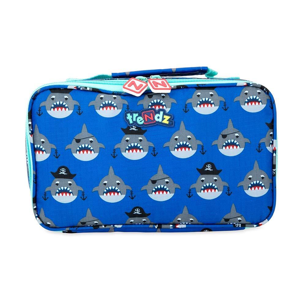 Blue Nuby Trendz #Bytes Single Decker Insulated Lunch Bag Blu 26 cm Sharks Cartella