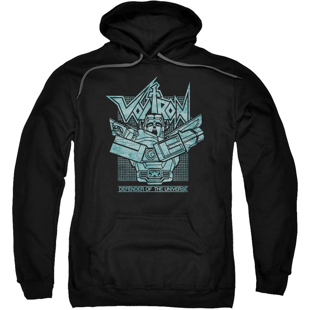 Trevco Voltron: Defender Of The Universe Grid Adult Pull-Over Hoodie