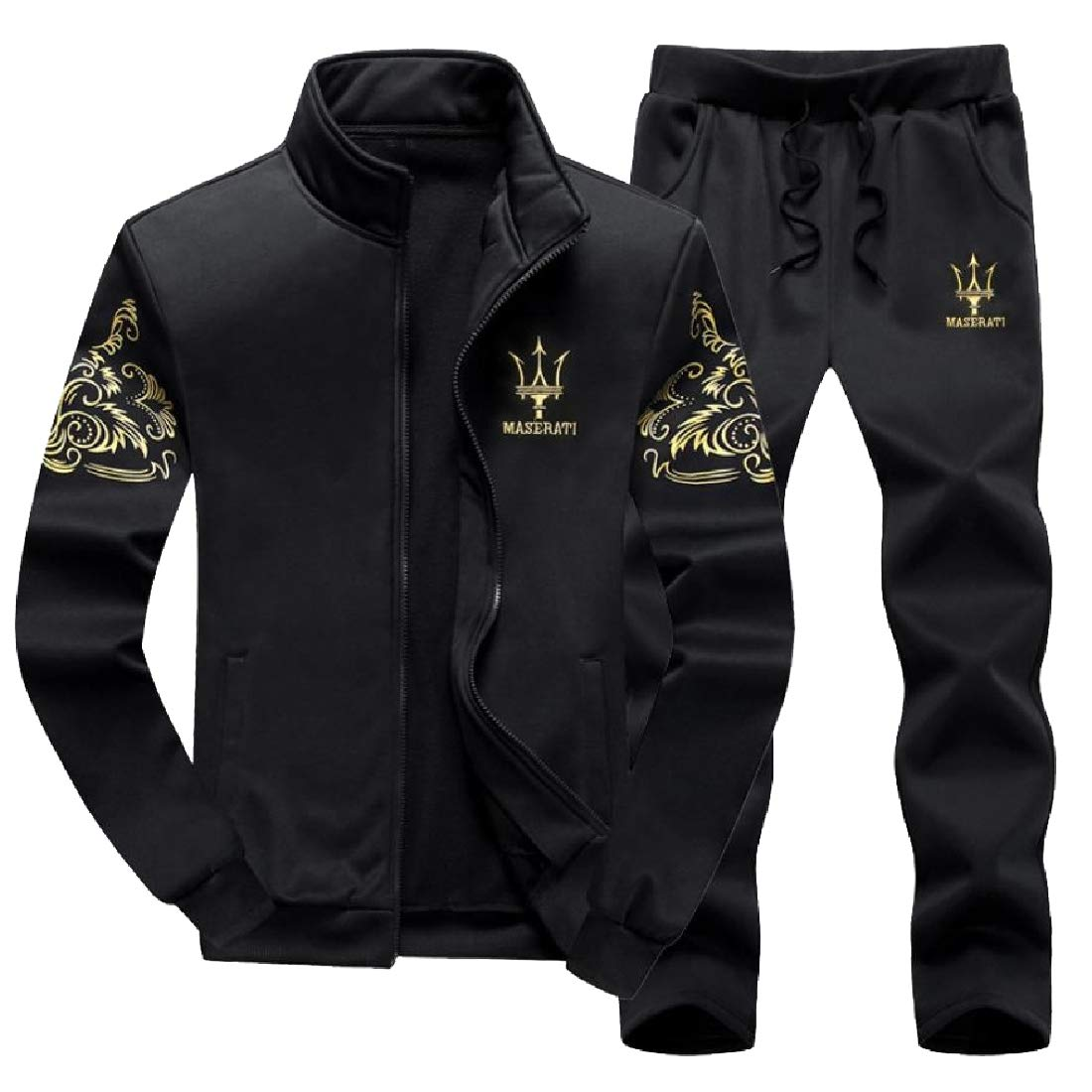 AS2 Small TaoNice Men's PlusSize Casual Premium Sweatshirt Hoodie & Pants Set