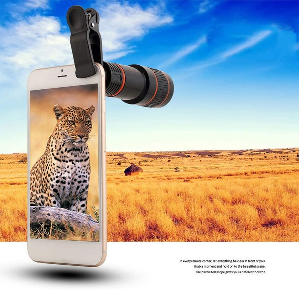 Mobile Camera Telescope Mobile Phone Telephoto 8X Concert Far Shot HD Remote External Camera for Travel and Concert Photo GWX Cell Phone Lens