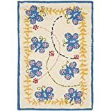 Safavieh Kids Collection SFK390A Handmade Ivory and Blue Cotton Area Rug (2′ x 3′) Review