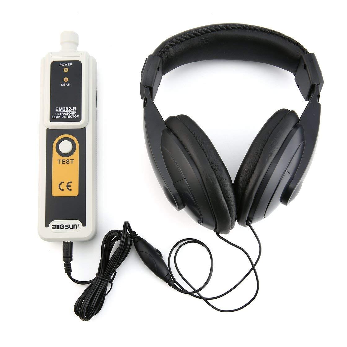 Allsun EM282 Ultrasonic Leak Detector 40KHz Transmetteur Fiable Dé tecteur Gaz Liquide Leakage Monitor Indicateur LED Gwendoll