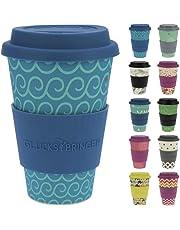 ebos Fortuna caffè-a-Go Tazze di bambù   Tazze di caffè, Tazze di Bevanda   degradabili nell'ambiente, riciclabile, Ecologico   Cibo Sicuro, Lavabile in lavastoviglie