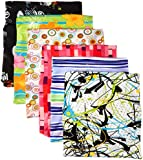 Kittrich Stretchable Jumbo Size Book Covers, 6 Pack, Assorted Prints (BSJ-45106-12BJ)