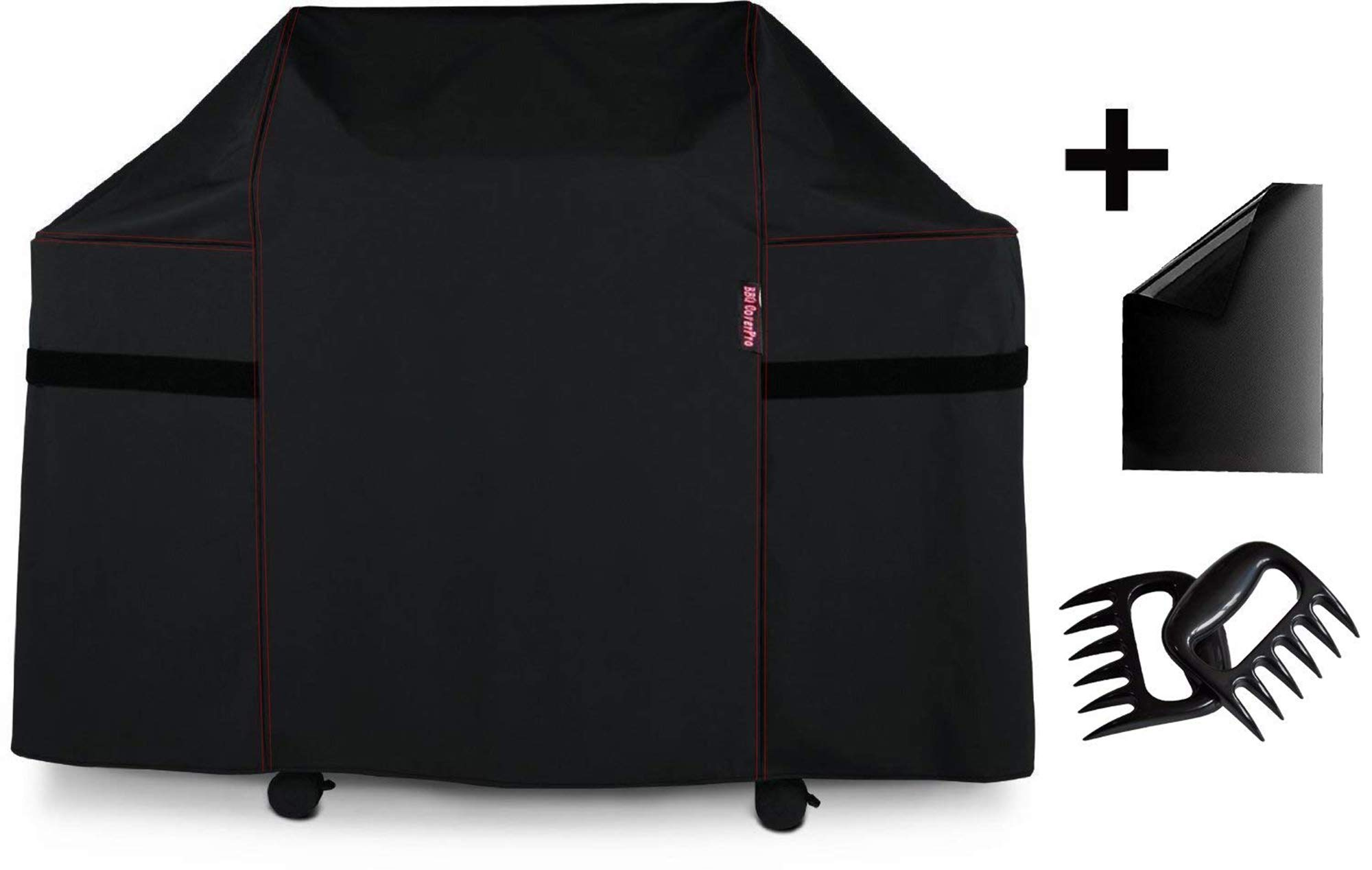 BBQ Coverpro 7131 Grill Cover for Weber Genesis II 4 Burner Grill Including Grill mat and Bear Claw Meat Shredder by BBQ Coverpro