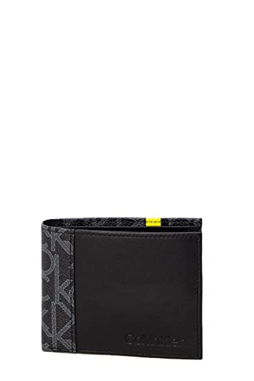 90115494a8 Calvin Klein Jeans K50K504412 Wallet Man Nero UNI: Amazon.co.uk ...