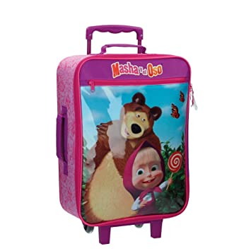 Masha y el Oso In The Wood Equipaje Infantil, 25 litros, Color Rosa: Amazon.es: Equipaje