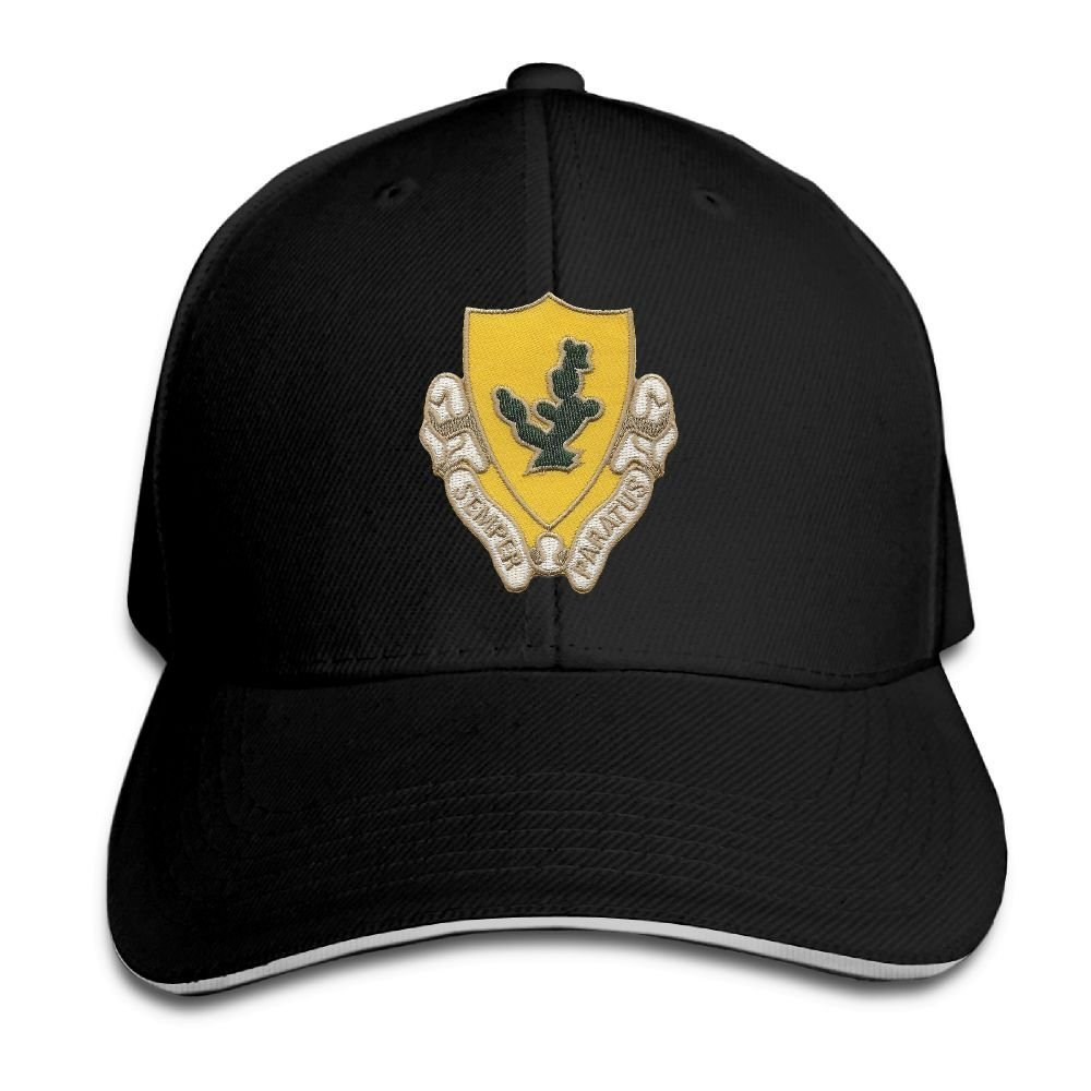 BOOLOOHOO US Army 12th Cavalry Regiment Embroidery Classic Adjustable Plain Baseball Cap Hat Men Women