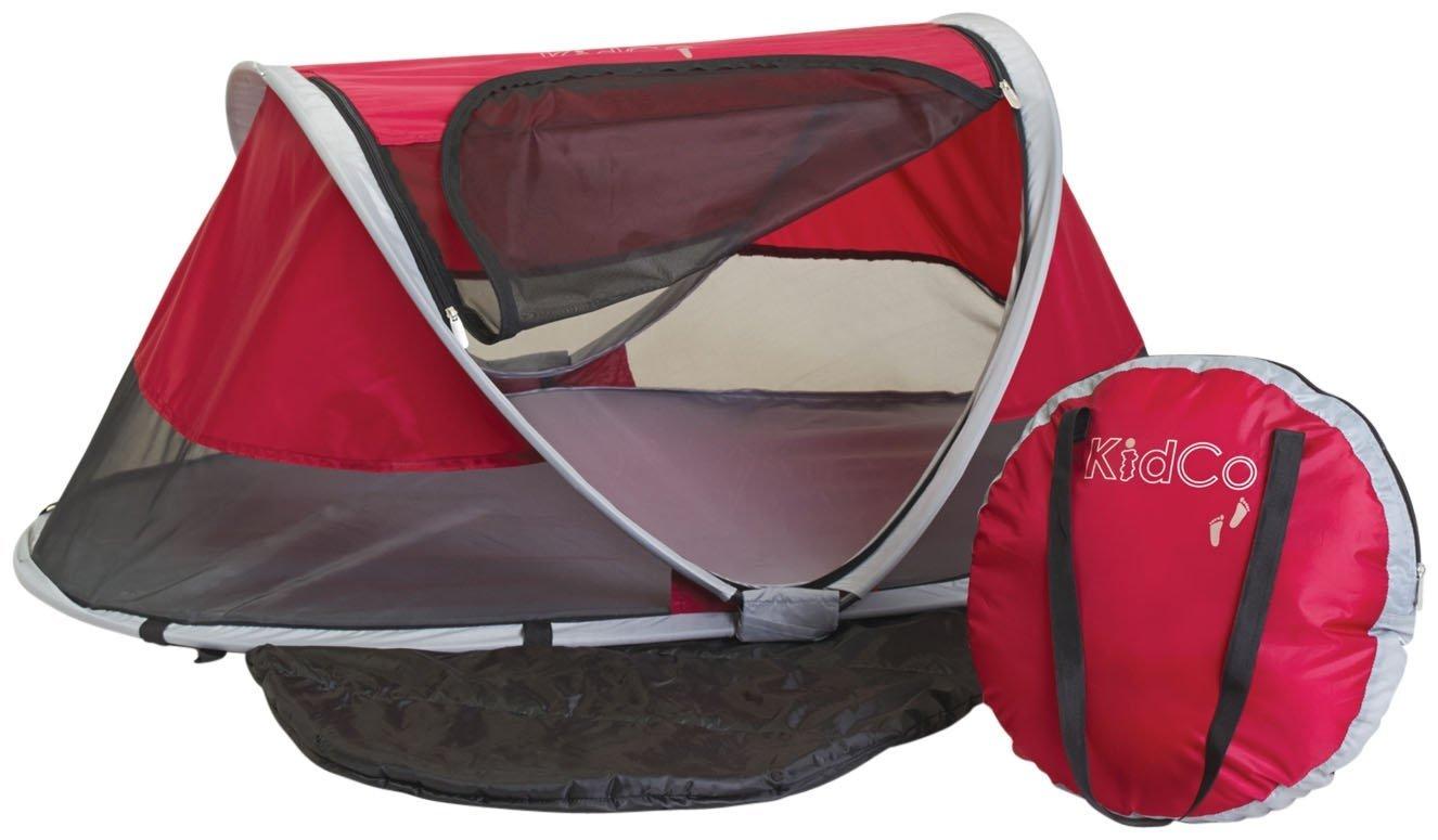 KidCo Peapod Portable Bed with Bonus Gate Check Bag, Cranberry