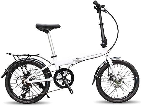 XWDQ Bicicleta De Montaña Bicicleta Plegable Bicicleta Mini Niños Y Niñas Cambio De Aleación De Aluminio Bicicleta 20 Pulgadas: Amazon.es: Deportes y aire libre