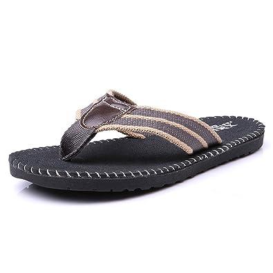ce039ecf05e7 Tongs Ourlet Homme Été Sandales Antidérapant Ultra-Léger Mode Confortable  Plage Slippers Flip-Flops