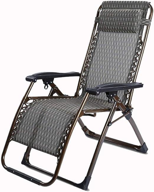 Sillas reclinables XXGI Zona de Ocio Sillas de Gravedad Cero Jardín Sillas reclinables Plegables Sillas reclinables y sillas de relajación y sillas de jardín reclinables: Amazon.es: Hogar