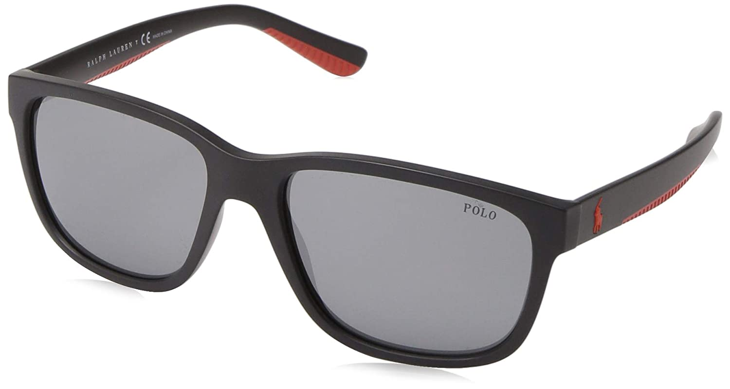 Amazon.com: Gafas de sol Polo PH 4142 57326G mate negro ...