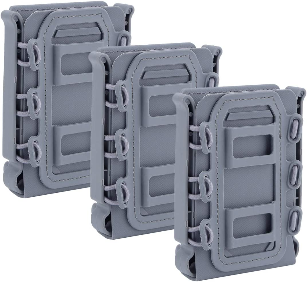 Mag Pouch Magazine Holster Carrier pour 5.56 //7.62 YxFlower 3 Pi/èces Porte Chargeurs Molle
