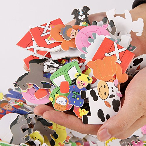 - Fun Central BC767 500 Pieces, Foam Self-Adhesive Farm Novelty, Farm Animals, Farm Animal, Farm Animals for Kids, Farm Animal Stickers, Farm Animals and Barn, Farm Animals Stickers, Self Adhesive Farm