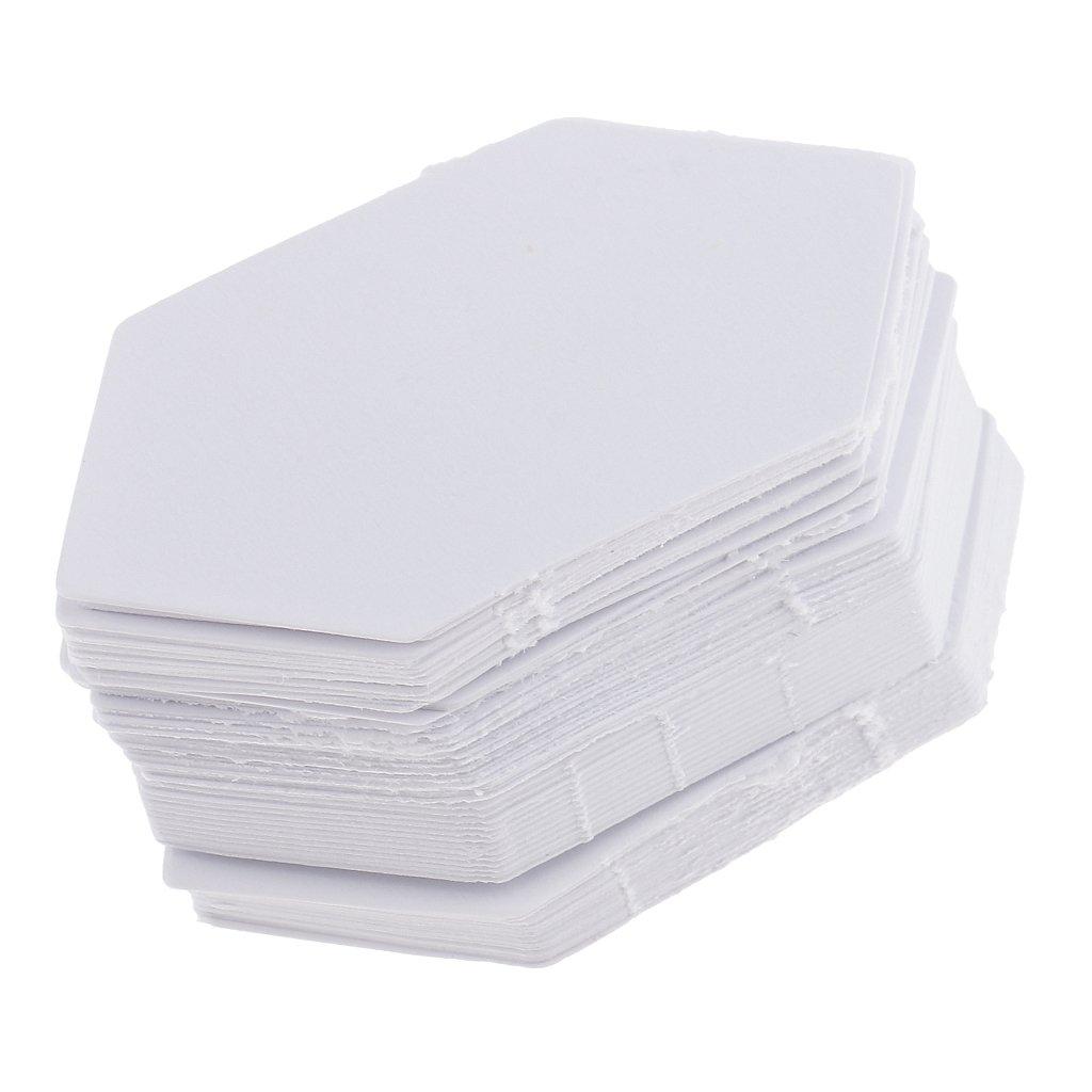 B Baosity 200x Hexagon Blank Paper Quilting Template Ingl/és Patchwork 4.2//7.9cm