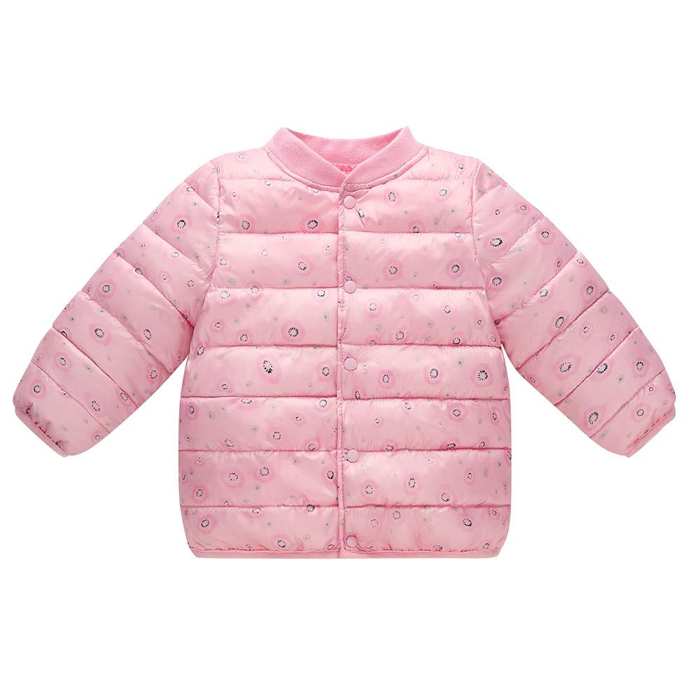 KONFA Toddler Baby Girls Boys Winter Warm Outerwear Clothes,Dots Print Cotton Wadded Jacket Coat Thick Pullover Set