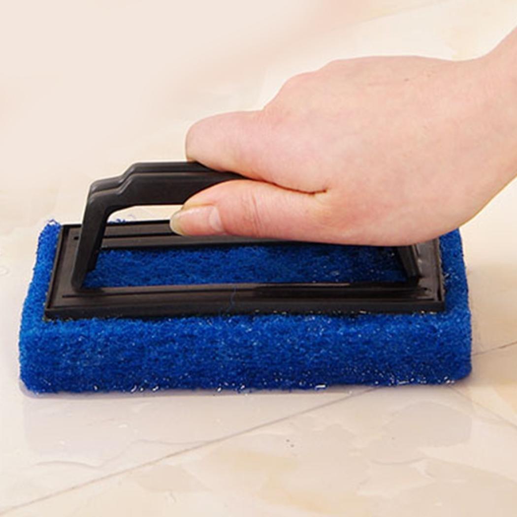 myedoホーム強力な除染スポンジ風呂ブラシタイルブラシキッチン浴室ブラシ ブルー MOVB033553_BL#@@ B079Z46R26 ブルー