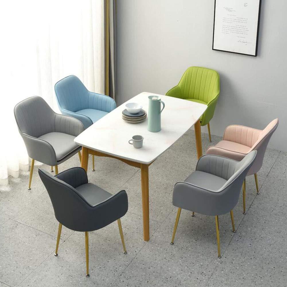 JIEER-C fritidsstol matrumsstol mjukt vadderat ryggstöd stol metallben kontor badkar restaurang hotell sovrum mötesrum hållbar stark BLÅ