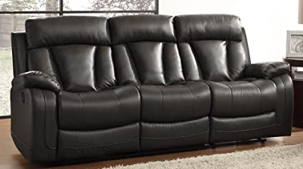 amazon com homelegance 8500blk 3 double reclining sofa bonded rh amazon com Ashley Bonded Leather Sofa Bonded Leather Sofa Repair