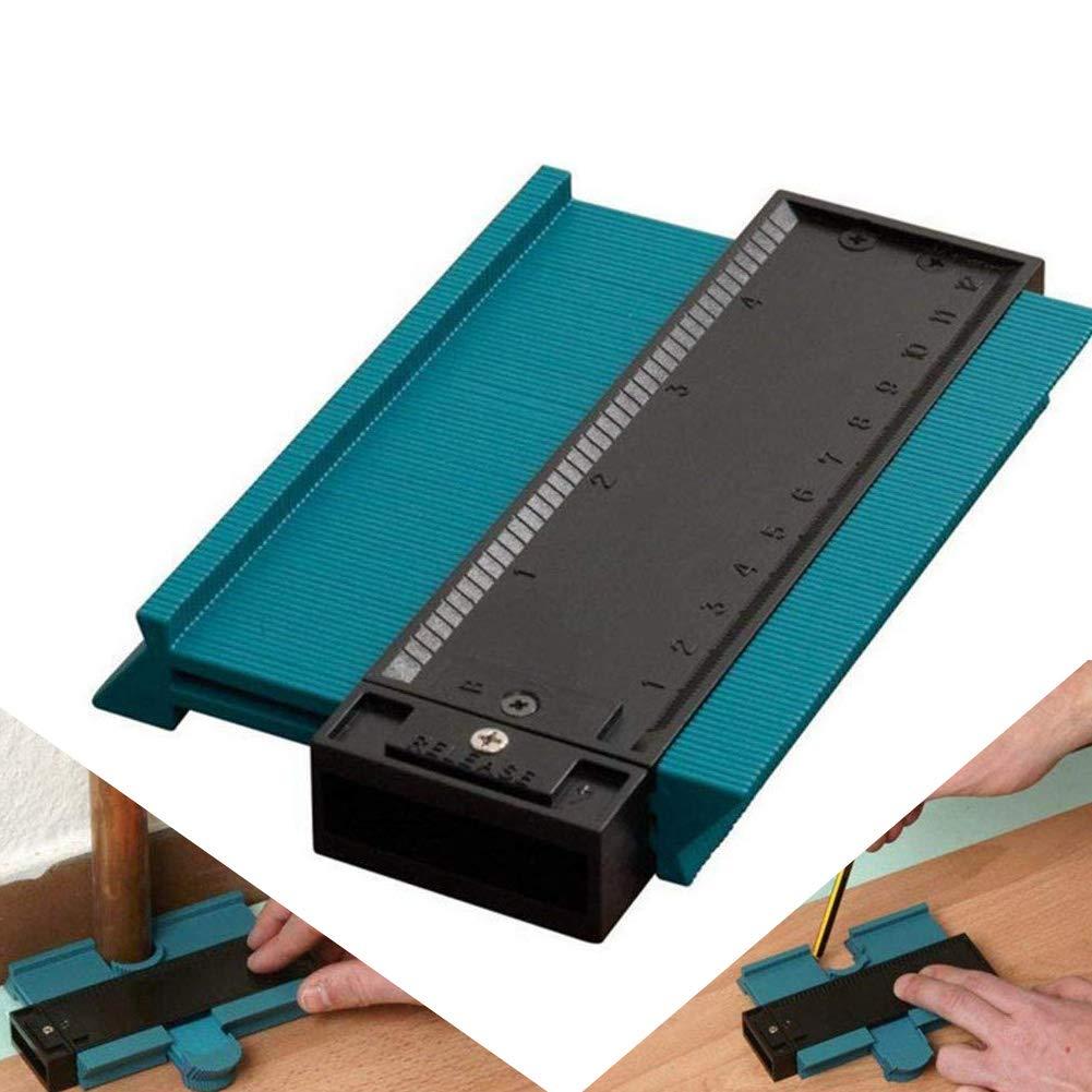 Calibrador de perfil irregular Fortspang, medidor de contorno ABS de 5 pulgadas / 125 mm, herramienta de marcado de madera de duplicador, baldosas de laminado de azulejos Herramientas generales