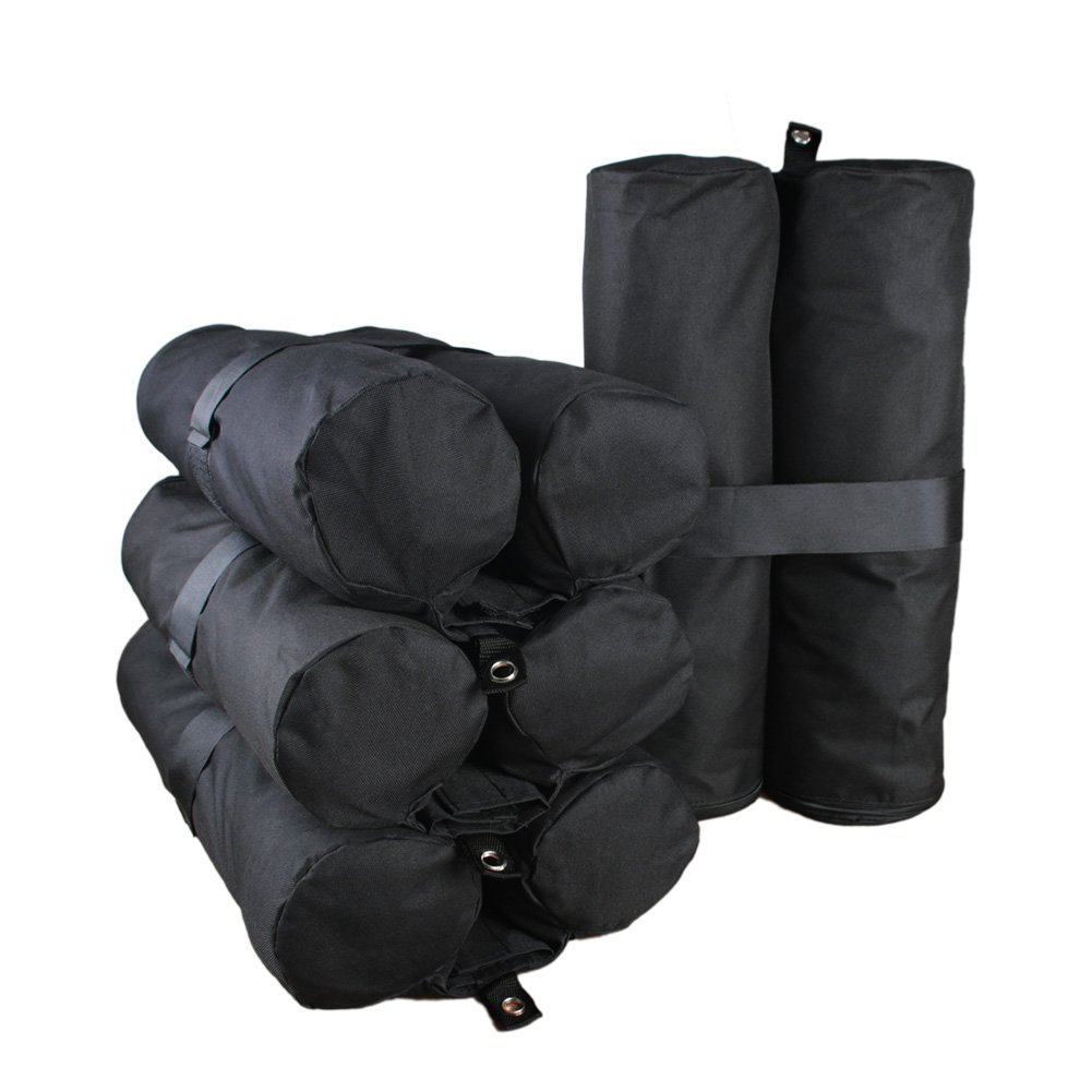 Goutime Canopy Weight Bags 40 lb Pop up Canopy Tent Legs, Gazebo Sand Bag Weights Set of 4 Black