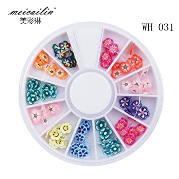 Amazon Sindy Polymer Clay 12 Kinds Of Flowers Fimo 3d Nail Art