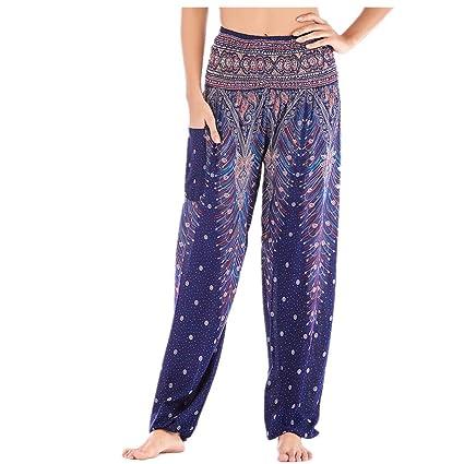 Boho Harem Pantalones Mujer, Yoga Fansu Moda Hippies Bohemio ...