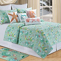 61k3WT%2BFJ%2BL._SS247_ Best Starfish Bedding and Quilt Sets