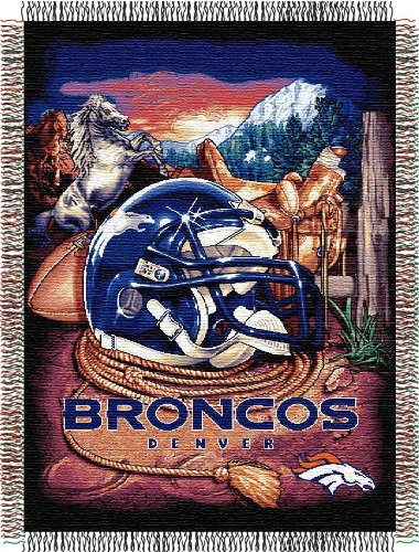 The Northwest Co NFL 051 Dolphins Helmet Woven Tapestry Throw Denver Broncos