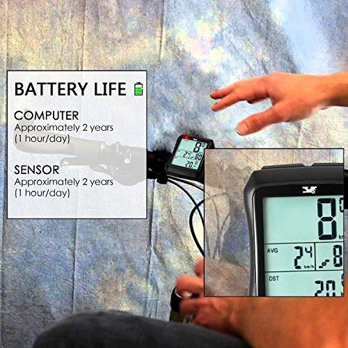 Sospers Bike Computer Waterproof, Wireless Speedometer Cadence, Bicycle Odometer Multi-function Large Screen LCD Display by Speedrid (Image #4)