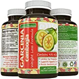 Pure 95% HCA Garcinia Cambogia Extract- Most Potent Natural Appetite Suppressant & Weight Loss Supplement - Infused with Potassium & Calcium - Perfect for Women and Men - GMP Certified & Made in the USA - Guaranteed by California Products, 60 Capsules