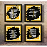 SAF Set of 4 Motivational Quotes Digital Reprint 19 inch x 19 inch Painting ()