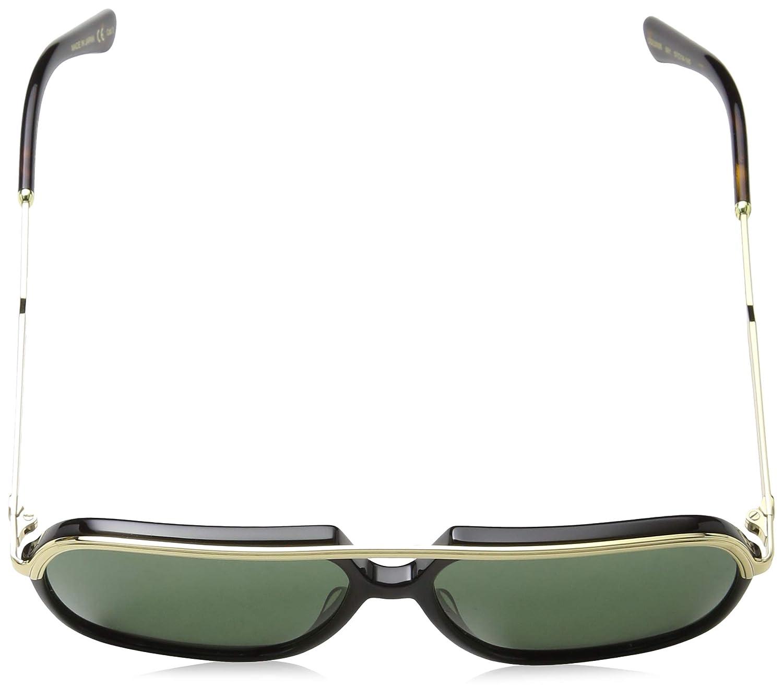 4ae4f765252c7 Amazon.com  Gucci GG0200S 001 Black Gold GG0200S Square Pilot Sunglasses  Lens Category 3  Clothing