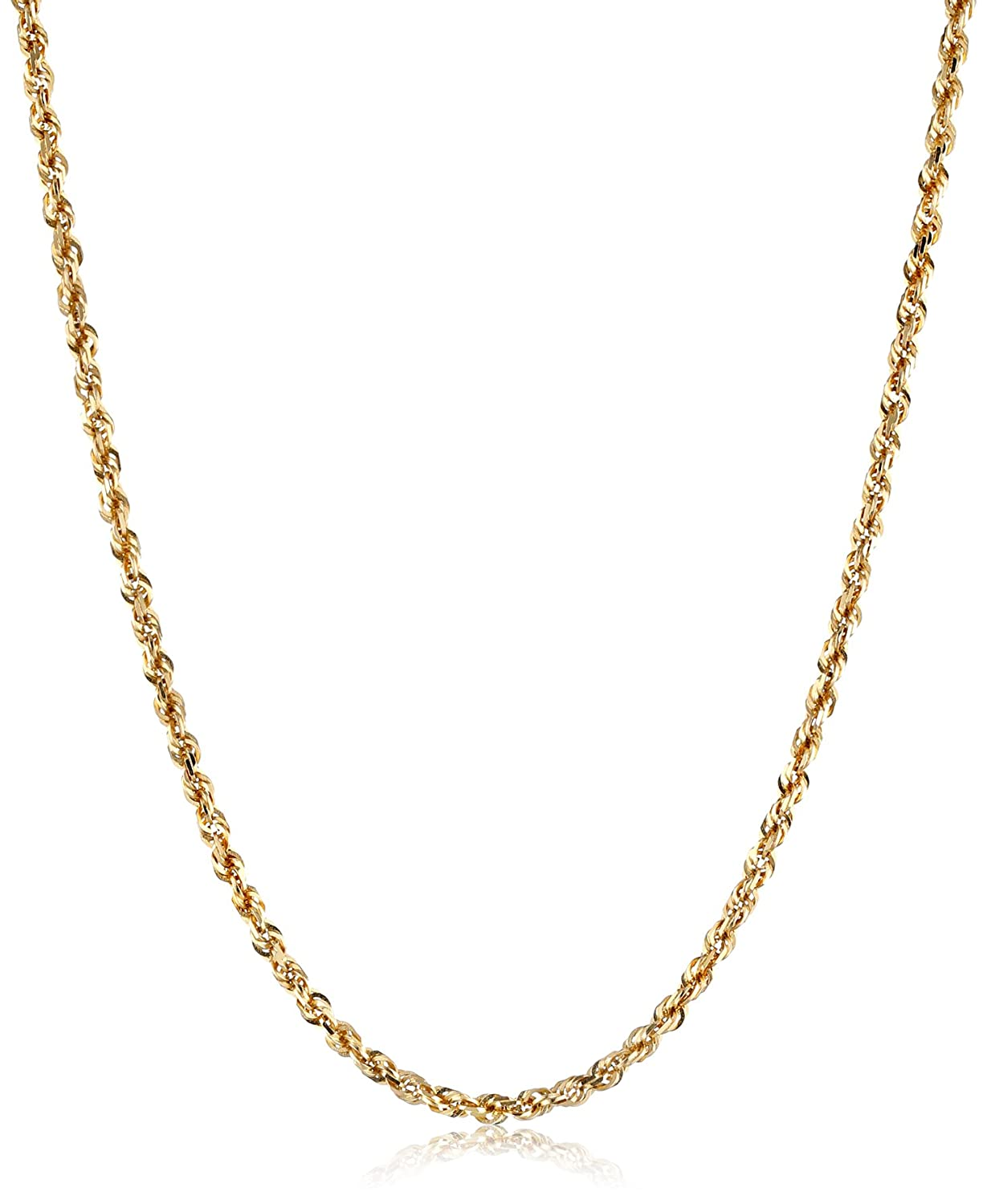 plated rope karat chain com necklace gold s men wide amazon inch dp chains