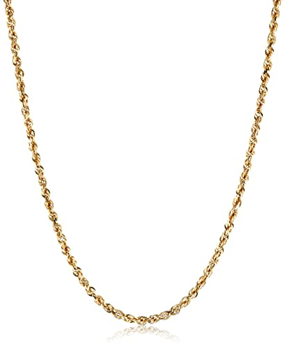 gold necklace diamond yellow inch link cut chain box ins franco wide