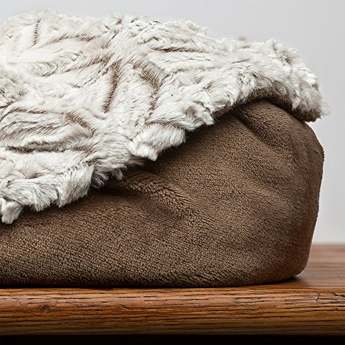 Ombre Plushmink Reversible Throw, - Throw Foal