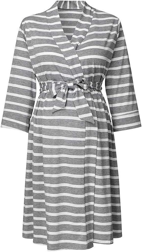 Robe de maternit/é Manches Trois-Quarts Allaitement Maternel Lomsarsh//Allaitement Maternel Femmes Enceintes Femmes Enceintes