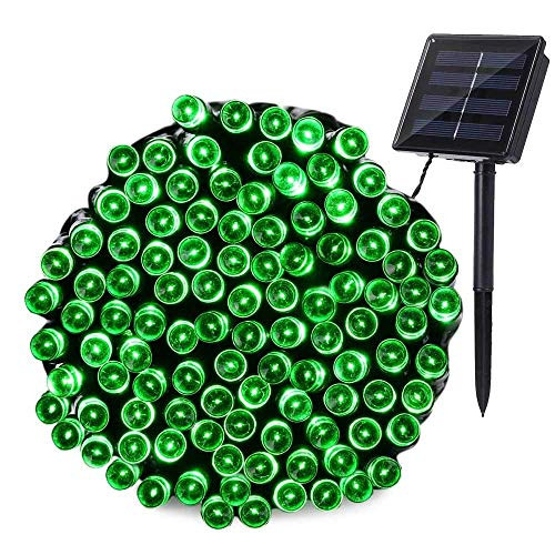 Solar String Lights 72ft 200 LED 8 Modes, Waterproof Starry Fairy Lights for Patio, Garden, Holiday, Christmas Decoration (Green)