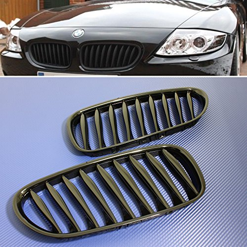 Front Grille Grill Gloss Black FOR 2003-08 BMW E85 Roadster E86 Coupe Z4 - Bmw Z4 Roadster