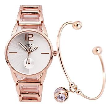 レディース 防水 おしゃれ GEDI 白 腕時計 ブレスレット