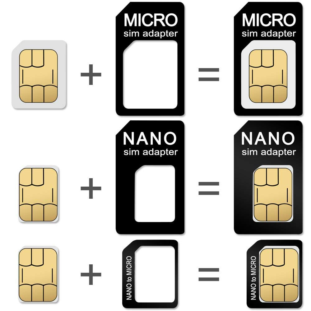 CKANDAY 2 Packs SIM Card Holders with Tray Opener Pins, Card Storage Tool Set for Standard Micro Nano Micro-SD Memory Cards, with 3 Card Adapters and ...