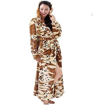 GYH Terciopelo de Coral Pijama Invierno Mujeres Hombres Casa Servicio Franela Camisón Batas Suelto Albornoces: Amazon.es: Deportes y aire libre